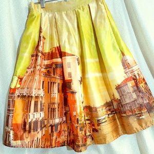 Photo Print Venice Skirt
